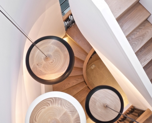 Fibbonacci Staircase - Putney House Renovation