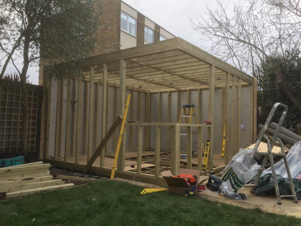 Garden Office Shed / Pod - Build Stage 1