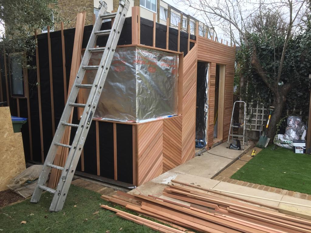 Garden Office Shed / Pod - Build Stage 2