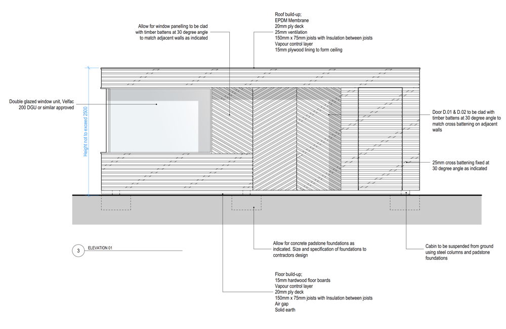 Garden Office Shed / Pod - Drawing 2